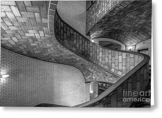 Mellon Greeting Cards - Carnegie Mellon University Baker Hall Stairway Greeting Card by University Icons