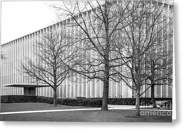 Library Greeting Cards - Carnegie Mellon University Hunt Library Greeting Card by University Icons