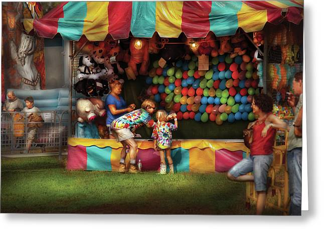 Carnie Greeting Cards - Carnival - At the country fair Greeting Card by Mike Savad