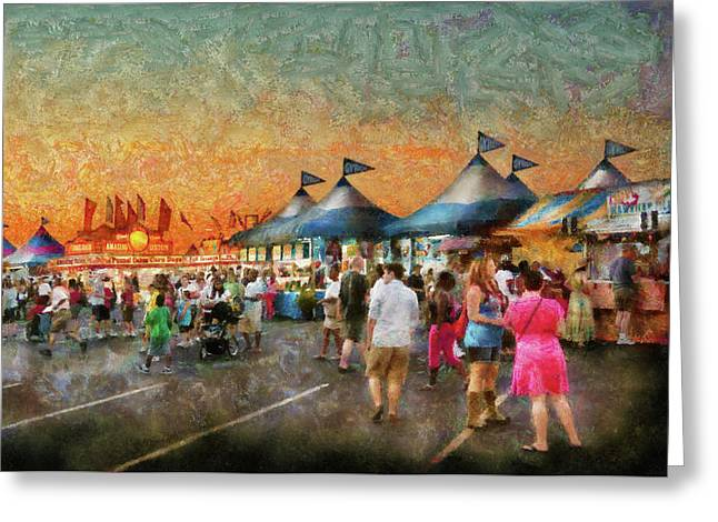 Customizable Greeting Cards - Carnival - Who wants Gyros Greeting Card by Mike Savad