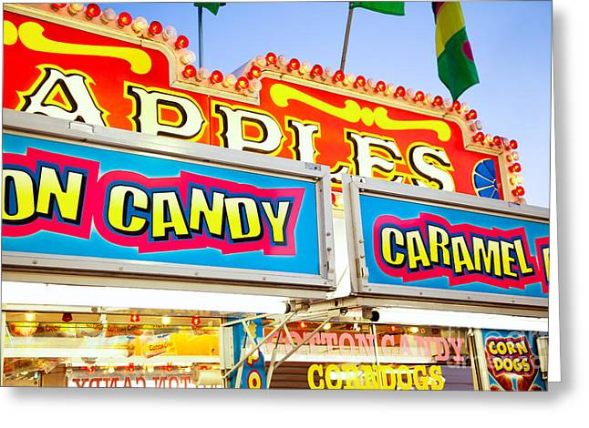 Carnival Concession Stand Signs Greeting Card by Paul Velgos