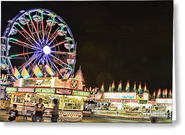 carnival Fun and Food Greeting Card by James BO  Insogna