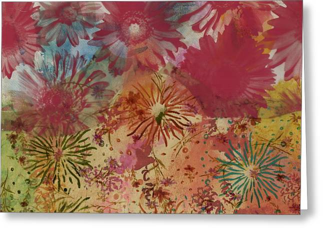 Fireworks Mixed Media Greeting Cards - Carnival Greeting Card by Gloria  Von Sperling