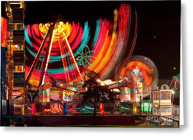 Street Fairs Greeting Cards - Carnival in Motion Greeting Card by James BO  Insogna