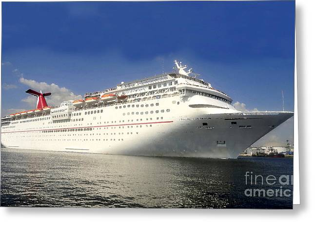 Boat Cruise Digital Greeting Cards - Carnival Inspiration cruise ship Greeting Card by David Lee Thompson