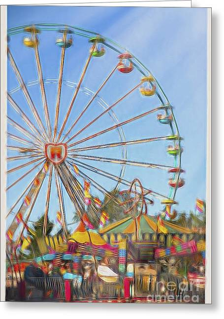 Amusements Greeting Cards - Carnival Greeting Card by Jan Tyler