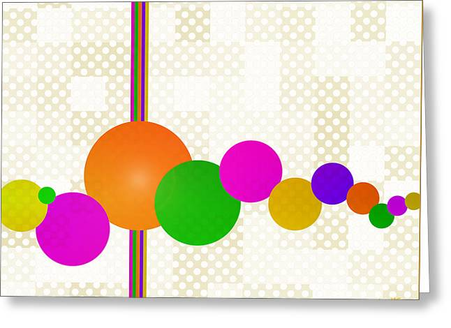 Geometric Art Greeting Cards - Carnival Greeting Card by Jennspoint