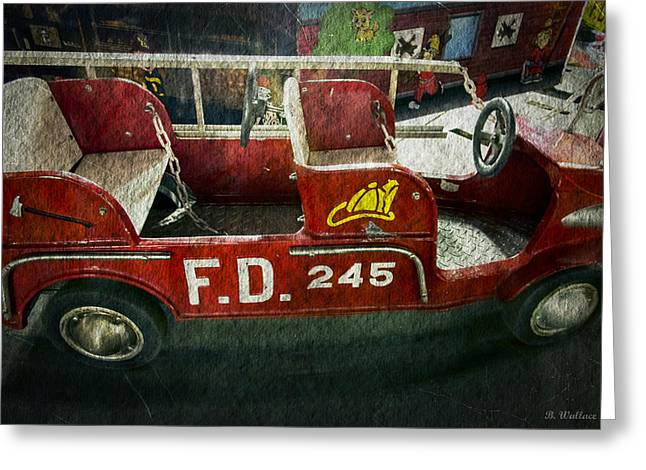 Kiddie Rides Greeting Cards - Carnival Memories Greeting Card by Brian Wallace