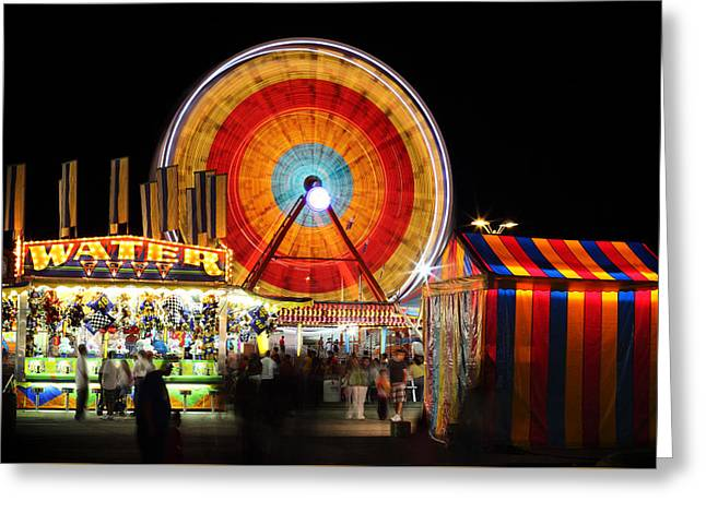 Carnival Midway Greeting Card by Todd Klassy