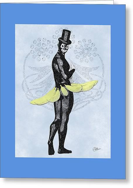 Banana Drawings Greeting Cards - Carnival of Cadiz By Quim Abella Greeting Card by Joaquin Abella