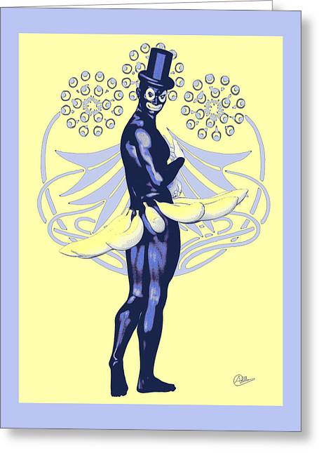 Banana Drawings Greeting Cards - Carnival of Rio By Quim Abella Greeting Card by Joaquin Abella