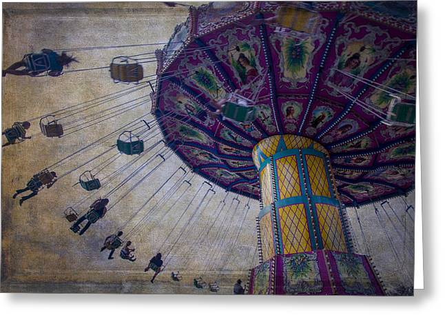 County Fair Greeting Cards - Carnival Ride At The Fair Greeting Card by Garry Gay