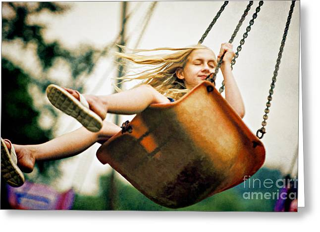 Indiana Art Greeting Cards - Carnival Ride - D009617-b Greeting Card by Daniel Dempster