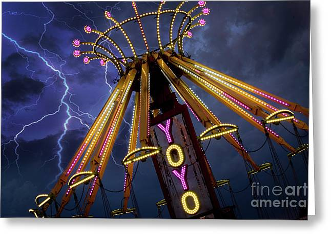 Carnival Ride Greeting Card by Juli Scalzi
