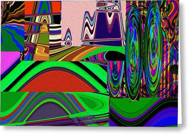 Abstract Movement Greeting Cards - Carnival Spins Greeting Card by Phillip Mossbarger