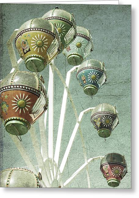 Ferris Wheel Greeting Cards - Carnivale Greeting Card by Andrew Paranavitana