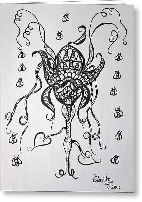 Carnivorous Greeting Card by Rosita Larsson