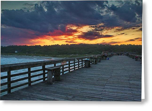 Ocean Images Greeting Cards - Carolina Evening Greeting Card by Brian Hamilton