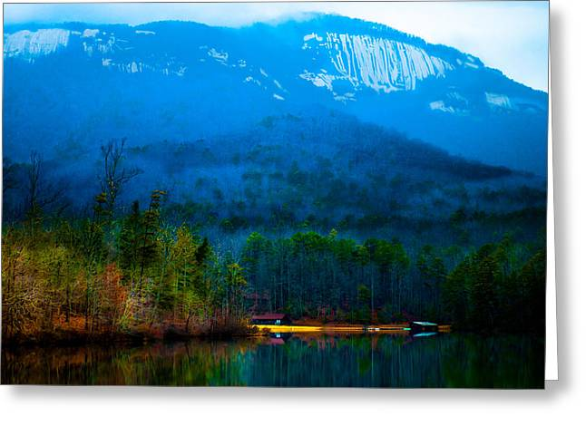 Shed Digital Art Greeting Cards - Carolina Fog Greeting Card by Optical Playground By MP Ray