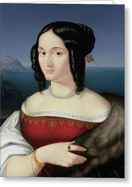Carolina Grossi Greeting Card by Peter von Cornelius