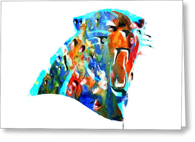 Buccaneer Greeting Cards - Carolina Panthers Wall Art Greeting Card by Brian Reaves