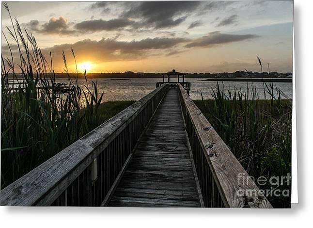 Ocean Sailing Greeting Cards - Carolina Sunsets Greeting Card by Joe Far Photos