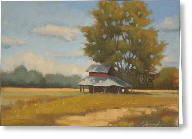 Tobacco Barns Greeting Cards - Carolina Tobacco Barn Greeting Card by Todd Baxter