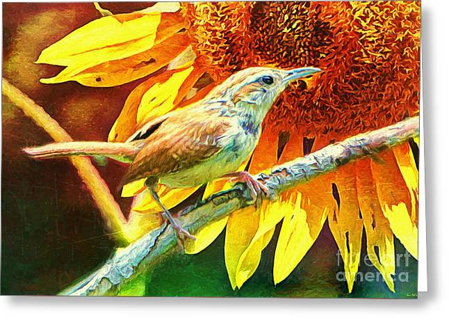 Print Photographs Greeting Cards - Carolina Wren Greeting Card by Tina  LeCour