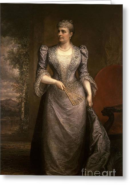 Caroline Harrison, First Lady Greeting Card by Science Source