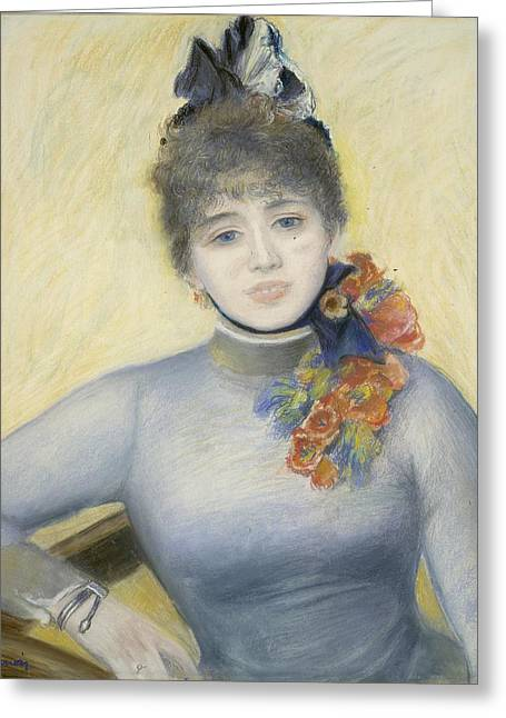 Famous Artist Greeting Cards - Caroline Remy -severine Greeting Card by Auguste Renoir