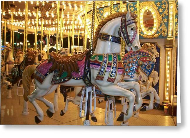 Carosel Horse Greeting Card by Anita Burgermeister