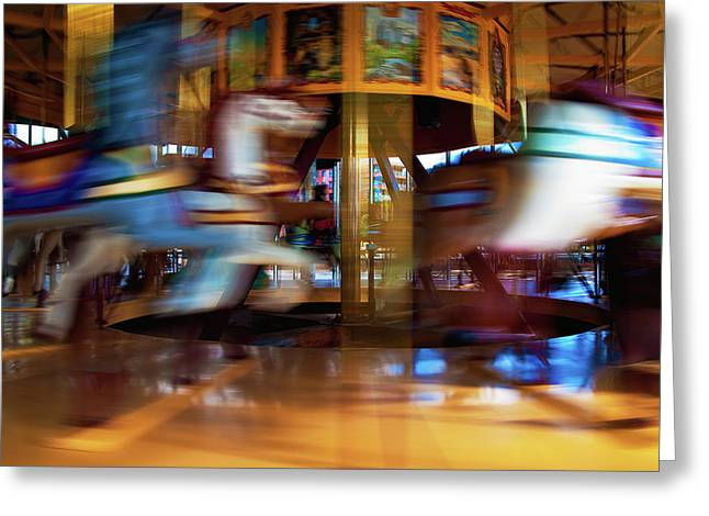 Geelong Greeting Cards - Carousel 1 Greeting Card by Tim Nichols