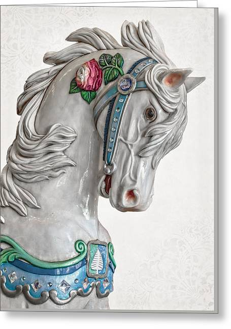 Carousel Beauty D4207 Greeting Card by Wes and Dotty Weber