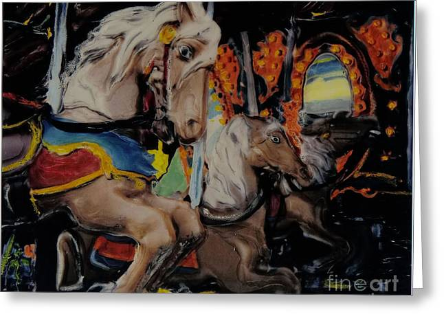 Photographers Ellenwood Greeting Cards - Carousel Hell Greeting Card by Corky Willis Atlanta Photography