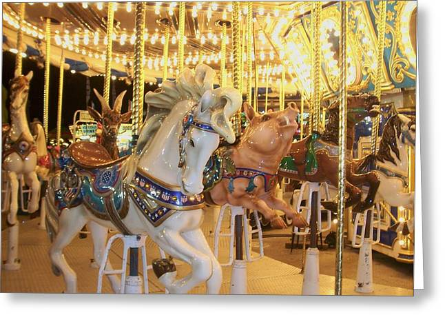 Carousel Horse 2 Greeting Card by Anita Burgermeister