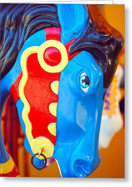 Amusements Greeting Cards - Carousel Horse Greeting Card by Anthony Brooks