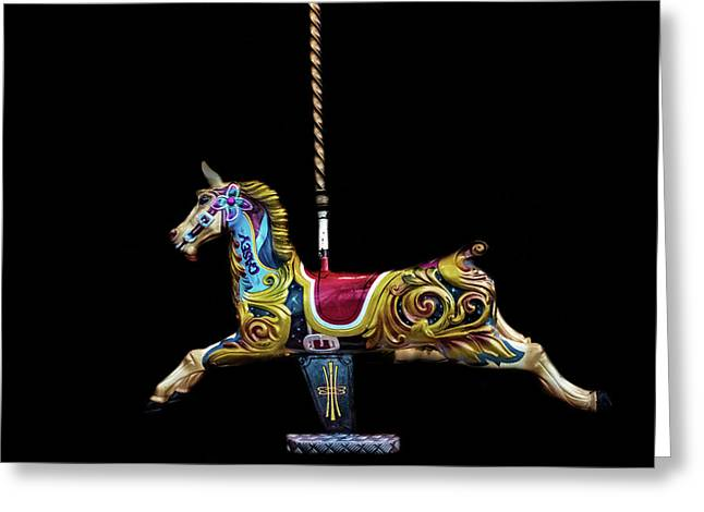 Carousel Horse Greeting Card by Martin Newman