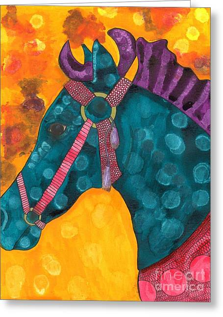 Amusements Greeting Cards - Carousel Horse Greeting Card by Sherie Balko-Nation