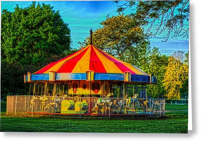 Recently Sold -  - Ithaca Greeting Cards - Carousel Greeting Card by Joseph Scaglione