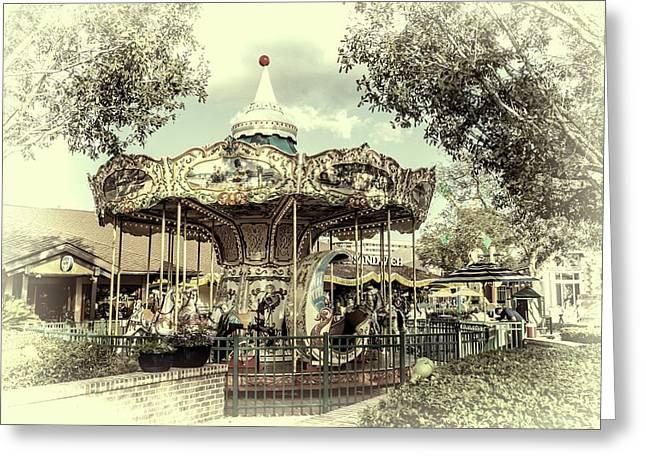 Carousel  Greeting Card by Louis Ferreira
