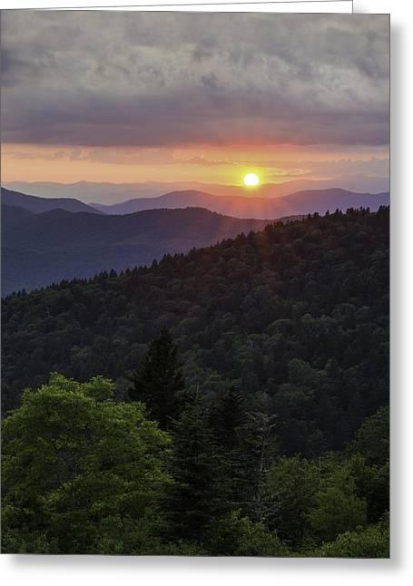 Southern Appalachians Greeting Cards - Carpe Diem Greeting Card by Johan Hakansson