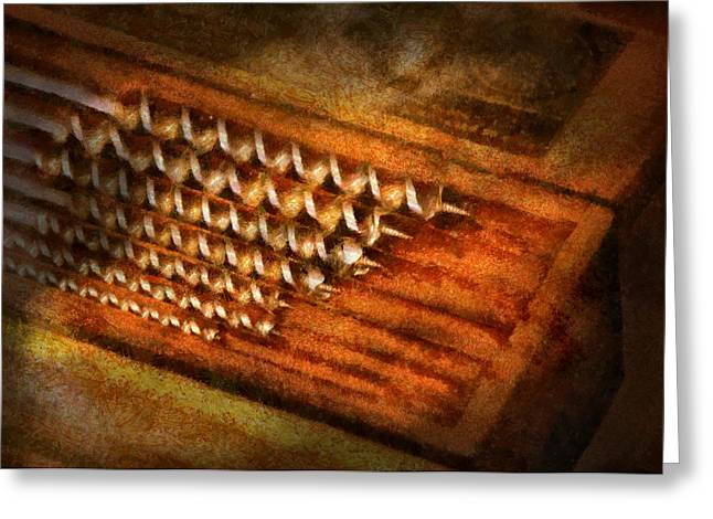 Carpenter - Auger Bits  Greeting Card by Mike Savad