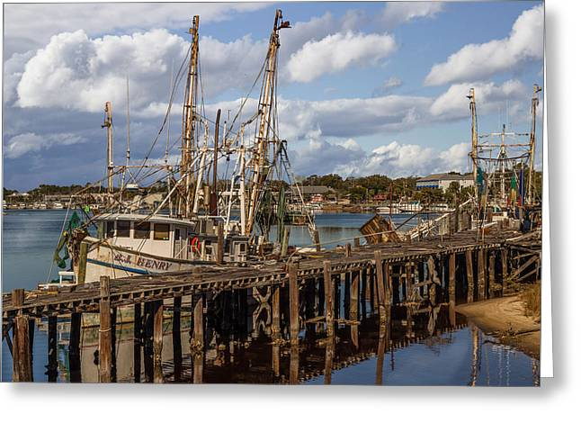 Carrabelle Harbor Greeting Card by Capt Gerry Hare