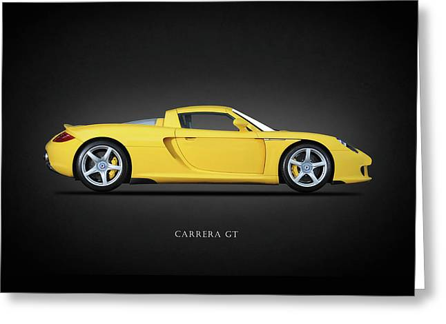 Brochure Greeting Cards - Carrera GT Greeting Card by Mark Rogan