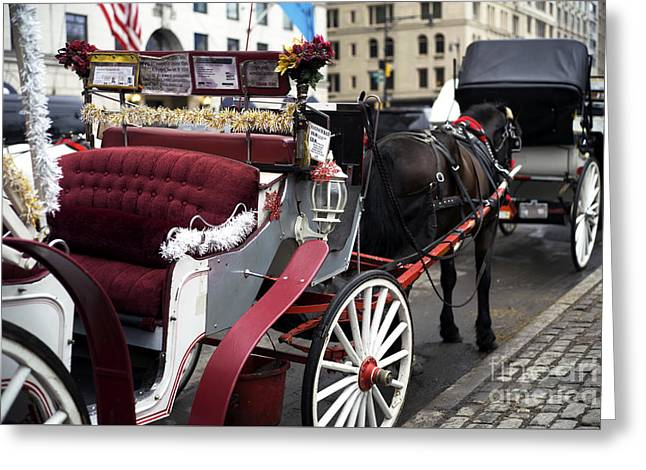 Carriage Memories Greeting Card by John Rizzuto