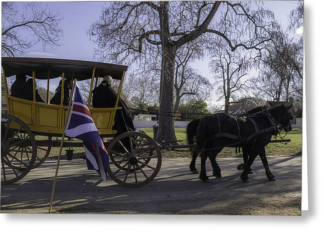 Re-enactor Greeting Cards - Carriage Ride on a Cold Winter Day Greeting Card by Teresa Mucha