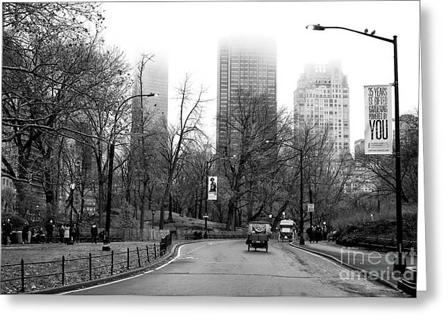 Carriage Ride On Center Drive Greeting Card by John Rizzuto