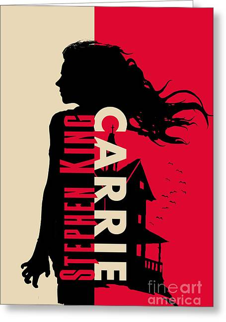 Carrie By Stephen King Book Cover Movie Poster Art 1 Greeting Card by Nishanth Gopinathan