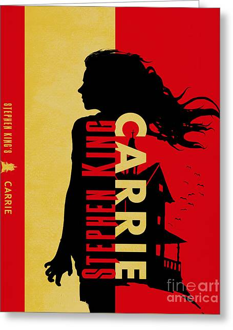 Carrie By Stephen King Book Cover Movie Poster Art 4 Greeting Card by Nishanth Gopinathan