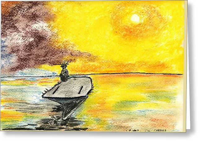 Carrier Pastels Greeting Cards - Carrier Greeting Card by Robert Wittig